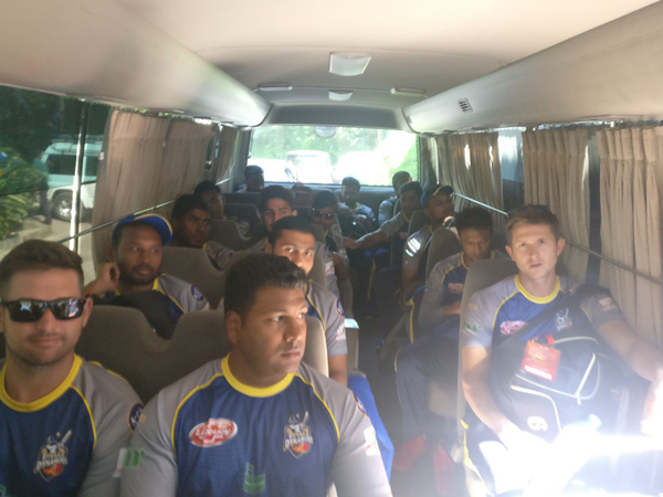 Team Dynamites on their way to the opening match of BPL 2017