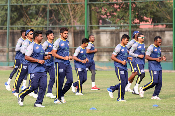 Dhaka Dynamites Practice at SBNCS