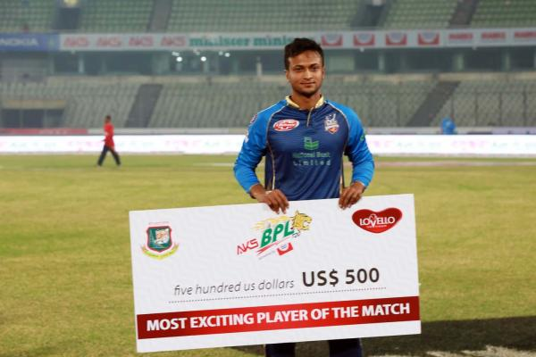 Dhaka vs Rajshahi at December 2, 2017