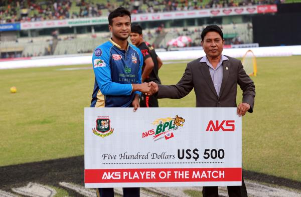 Man of the match: DHAKA DYNAMITES Vs Rangpur Riders(6 Dec 2017)